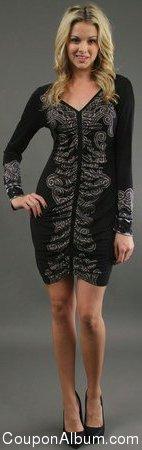 Hale Bob Silk Jersey Mini Dress