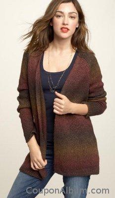 Heathered space-dye sweater