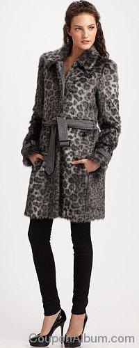 Rebecca Taylor Leopard Car Coat