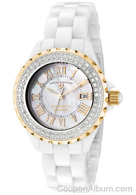 SWISS LEGEND Women's Karamica White Diamond Watch