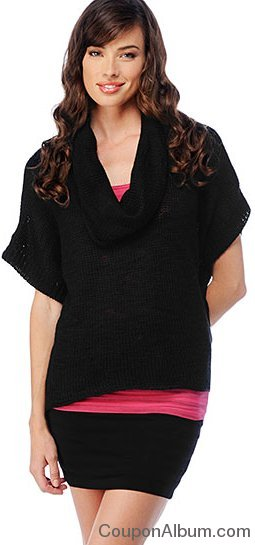 Splendid Chunk Slub Cowl Neck Sweater