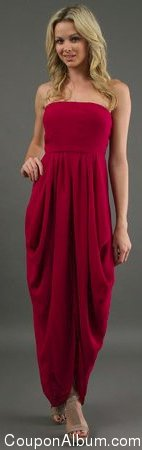 Twelfth Street by Cynthia Vincent Strapless Drape Dress