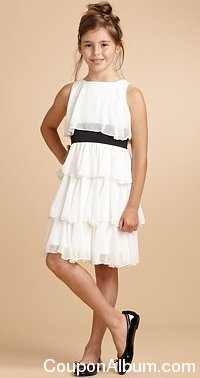 Un Deux Trois Girl's Chiffon Tiered Dress