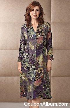 Women's Royal Floral Dress
