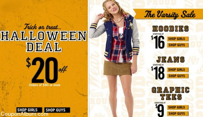 aeropostale halloween coupon