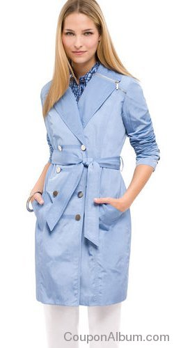 ak anne klein trench coat
