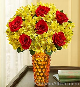 Fall Rose and Peruvian Lily