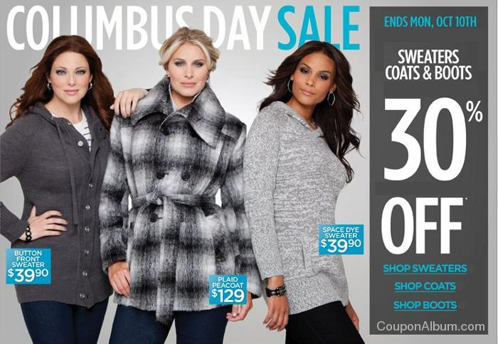 avenue columbus day sale