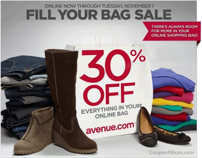 avenue fill your bag sale