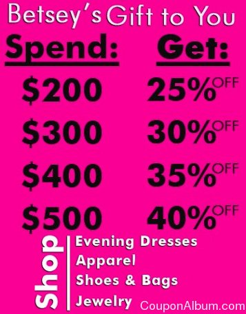 betsey johnson buy more save more event