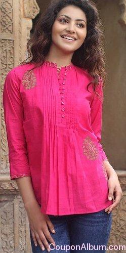 cotton blouse-bengali rose