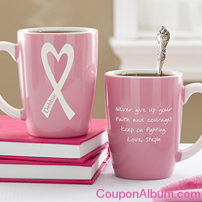 courage & strength personalized pink mug