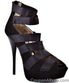 designer black heels