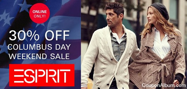 esprit columbus day sale