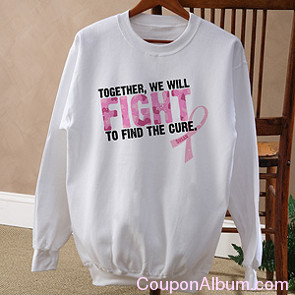 fight to find a cure personalized sweatshirt