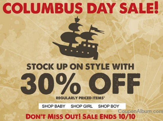 guess kids cloumbus day sale