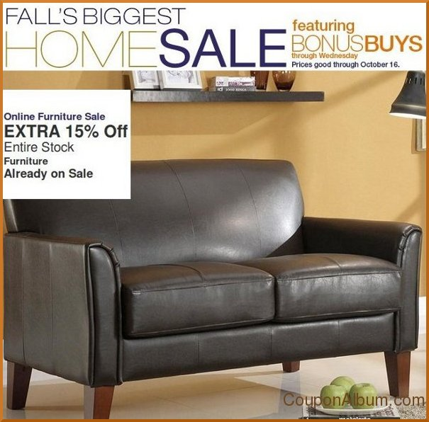 kohls fall biggest home sale