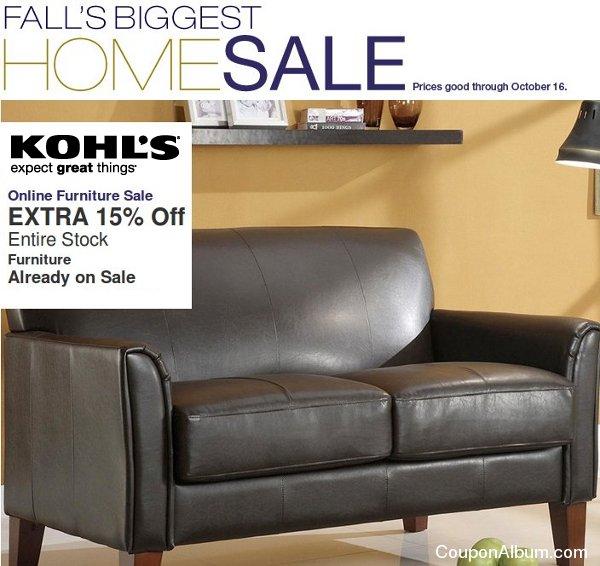 kohl's home sale