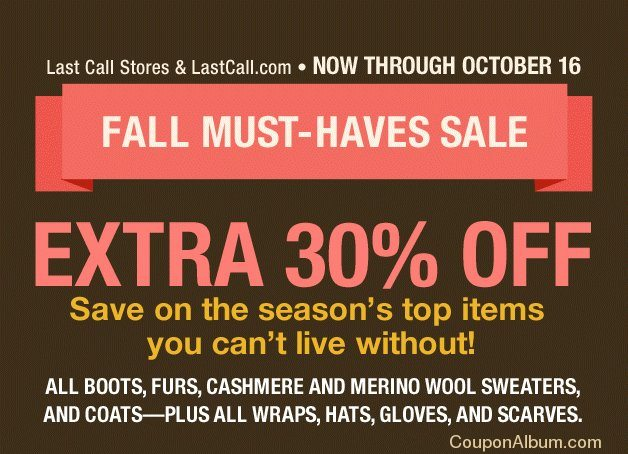 last call fall must-haves sale