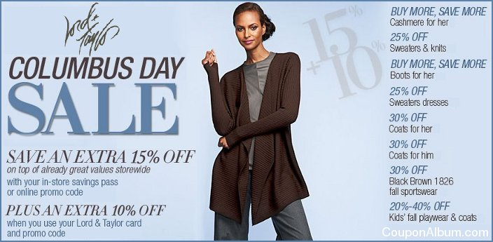 lord and taylor columbus day sale