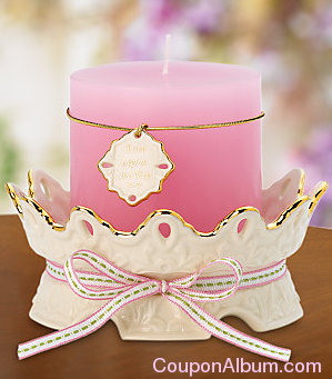 love notes spirited candleholder with pink candle