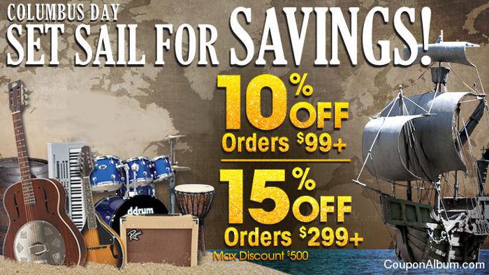 musicians friend columbus day sale