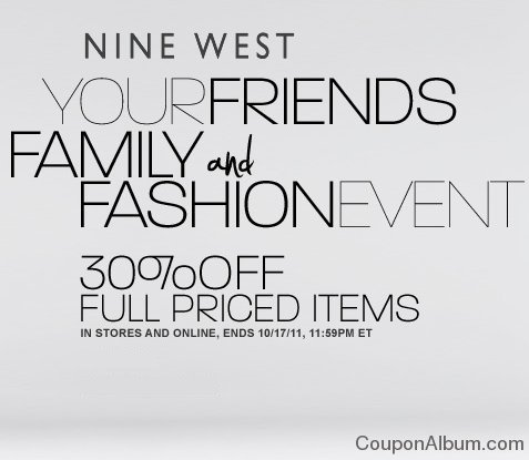 nine west friends and family