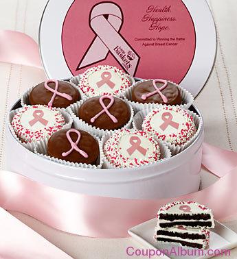 perfect pink chocolate covered oreo tin