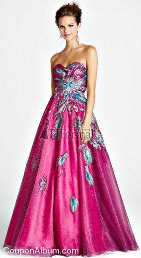 pink by blush prom dress