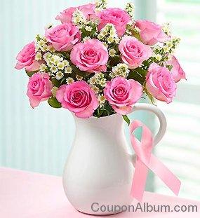 Pink Ribbon Bouquet