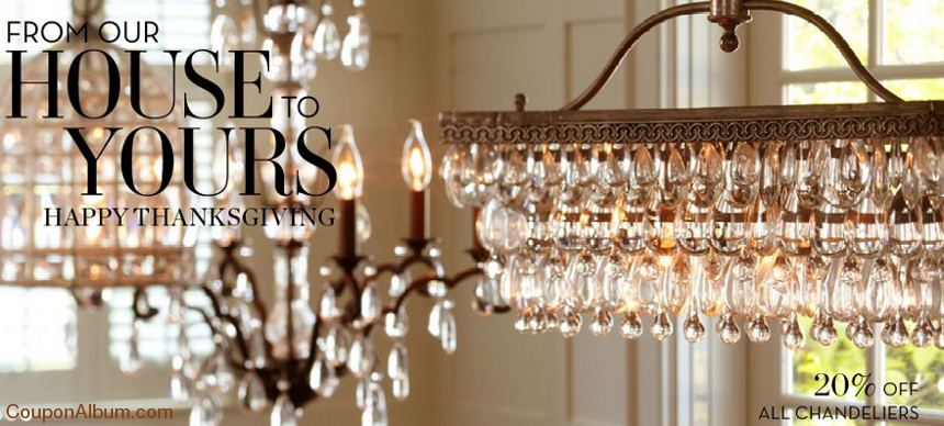 pottery barn 20-off chandeliers
