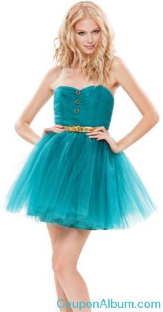 pow-poof-strapless dress