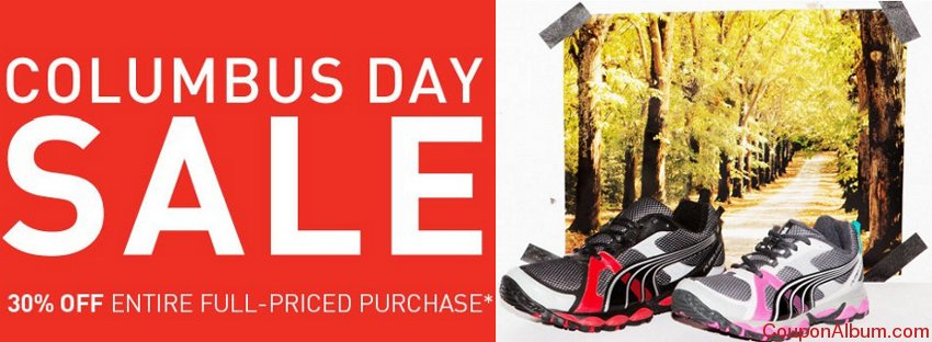 30% OFF PUMA Columbus Day Sale plus Free 2-Day Shipping
