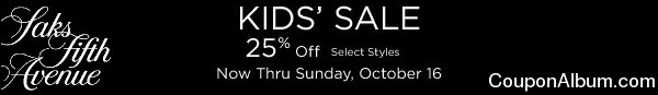 saks kids sale