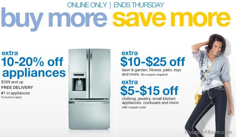 sears discounts on appliances