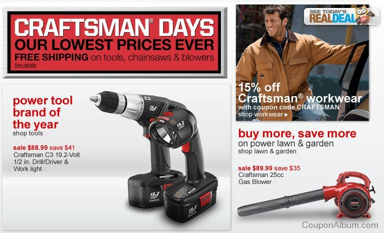 sears discounts on tools