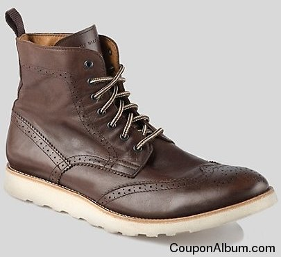 tommy runway brogue boot