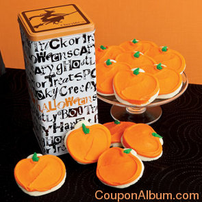 trick or treat gift tin-frosted cookies