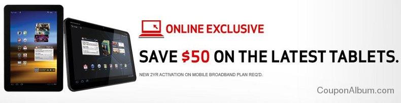 verizon wireless tablet coupon