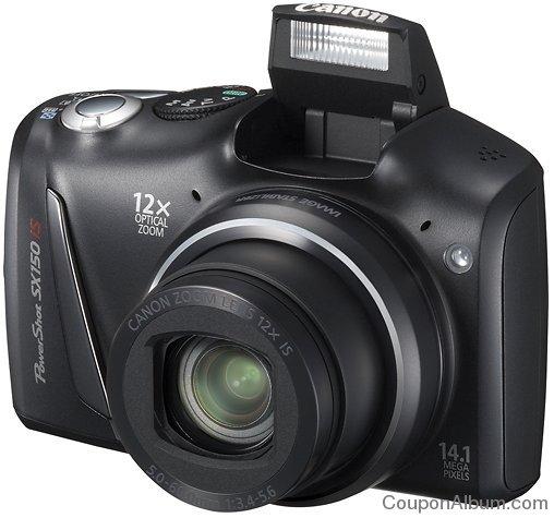 CANON PowerShot SX150 IS Black 14.1-Megapixel Digital Camera