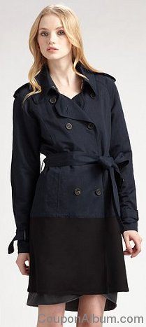 Hanii Y - Colorblocked Trenchcoat
