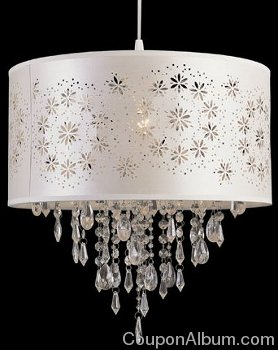 Trans Globe Lighting Modern Meets Traditional Antique White One-Light Pendant