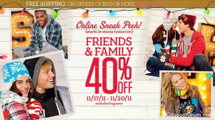 aeropostale friends and family sale