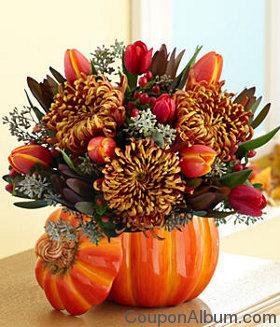 autumn floral centerpiece