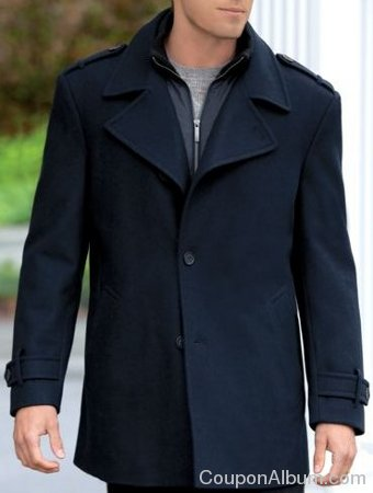 classic style wool peacoat