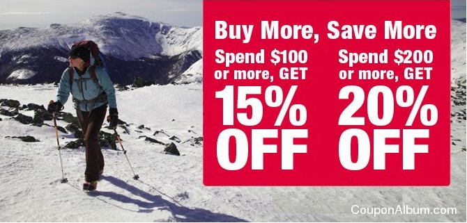 eastern mountain buy more save more offer