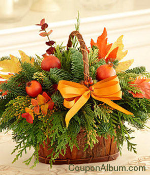 fall centerpiece basket