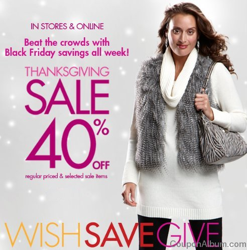 fashion bug thanksgiving sale