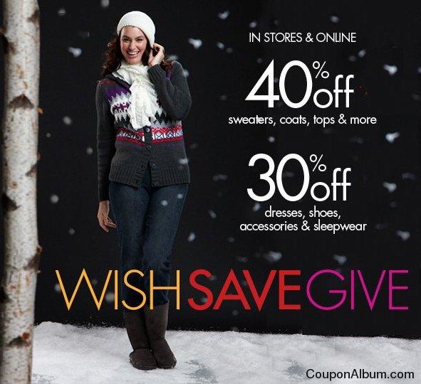 fashion bug wish save give sale
