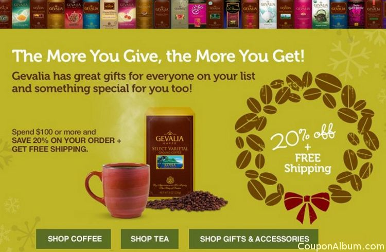 gevalia holiday savings